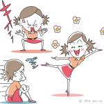 イラスト_ヘタうま系 「激烈女子の喜怒哀楽」