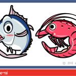 ゲーム用 魚のキャラクター