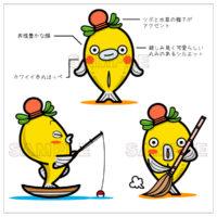魚(タナゴ)のキャラクターデザイン